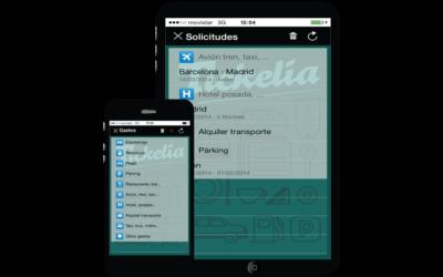 Utiliza los dispositivos móviles para los gastos de empresa