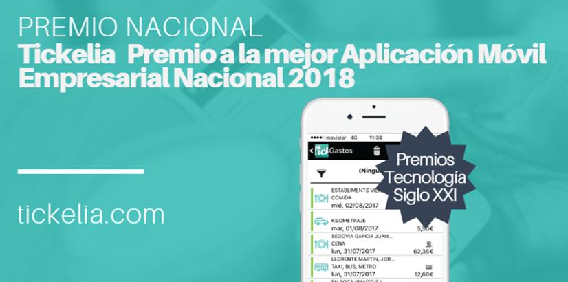 Tickelia es premiada con el Premio Nacional Tecnología Siglo XXI en la categoría de APP